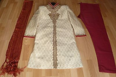 BN  Indian/Asian Men's Wedding Suit /Men Sherwani /Groom Suit - Chest 40 inches