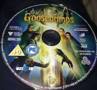 Goosebumps (3D Blu-ray 2016) Nearly New Region Free 3D DISC ONLY