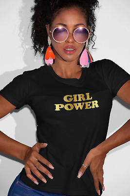 Girl Power Ladies  Womens Spice Girls T Shirt Top Fitted