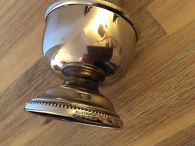 Vintage Sugar Sifter Shaker Large Silver Plate Queen Anne Style Pot Cellar