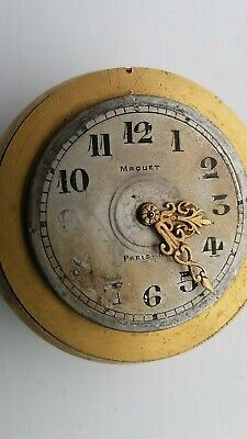 One Vintage Miniature French Clock Movement By Maquet From Paris - Nice.