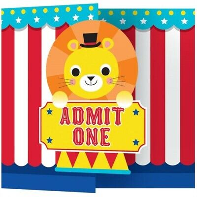 Fisher Price 1st Birthday Circus Invitations 8 First Party