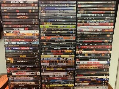 Wholesale Lot Of **100** Used Action/Adventure DVD's (All Have Cases & Artwork)