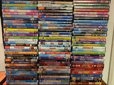 Wholesale Lot Of **100** Used Kids DVD's (All Have Cases & Artwork)