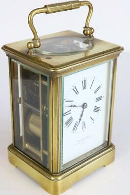 GONG STRIKE CARRIAGE CLOCK antique by MAPPIN BROTHERS good quality French works