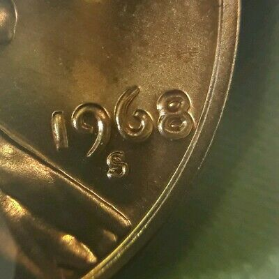 1968/1968 S Lincoln Memorial Cent Double Die Obverse Error Coin - BU/MS
