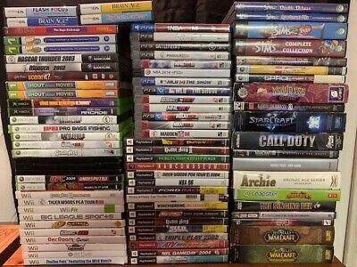 Wholesale Lot Of **81** Used Video Games (PS2, PS3, PS4, Xbox, Xbox360, Wii, PC)
