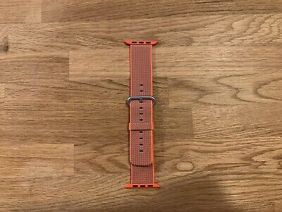 Bracelet officiel Apple Watch en nylon - Orange/bleuté - 42 / 44 mm