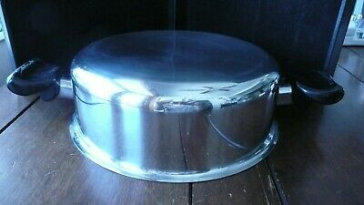 """SALADMASTER 3.5"""" high STAINLESS STEEL DUTCH OVEN LID ONLY, 10 3/4"""" OUTSIDE DIAM"""