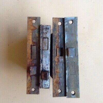 Lot Of 4 Antique Vintage Mortise Skeleton Door Locks Metal Hardware