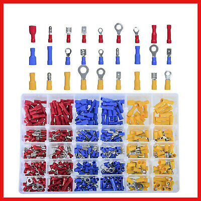 480x Copper PVC Assorted Crimp Terminal Insulated Electrical Wire Connector Set