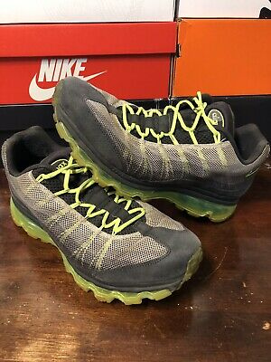 quality design c1bc9 d193f Nike Air Max 95 Mens Dynamic Flywire Gray Grey Neon Green 554715 070 size 10