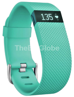 Fitbit Charge HR FB405TEL Heart Rate Wireless Activity Wristband Teal Large