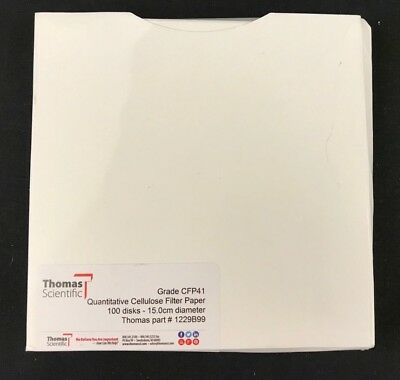 100 Discs Whatman 1001-042 Quantitative Filter Paper, 42.5mm Diameter NEW