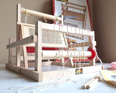 Brio Miniature Wooden Collapsible Tabletop Loom, Made in Sweden!