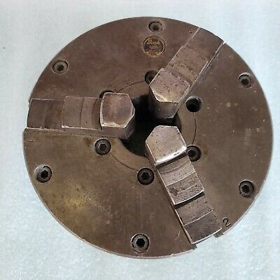 Buck 3-Jaw self centering lathe chuck 6 inch with back plate Adjust True