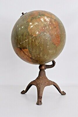 "12"" Antique W & A.K Johnston A.J Nystrom Celestial Terrestrial World Globe Rare"