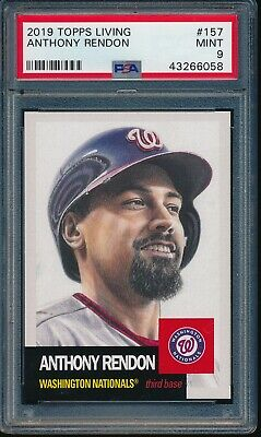2019 Topps Living Set #157 Anthony Rendon PSA 9 Mint Card SP 43266058