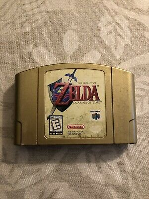 Legend Of Zelda: Ocarina Of Time Nintendo 64 Game Authentic Gold Cartridge Only