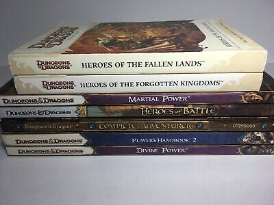 Dungeons and Dragons 4th Edition Book Lot 7 books Players Handbook 2 Divine...