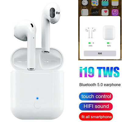 I19 TWS Earbuds Bluetooth 5.0 Earphone Touch Control Headset HIFI Stereo Sound