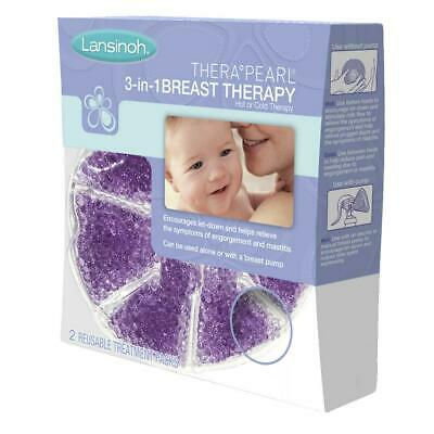 Lansinoh Therapearl Reusable 3 in 1 Breastfeeding Breast Therapy, 2 Pack Free Sh