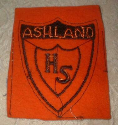 Original Vintage Ashland High School Ohio Felt Embroidered Emblem Patch ~ Nos