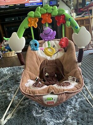 Fisher Price Baby Bouncer Deluxe Monkey - RARE