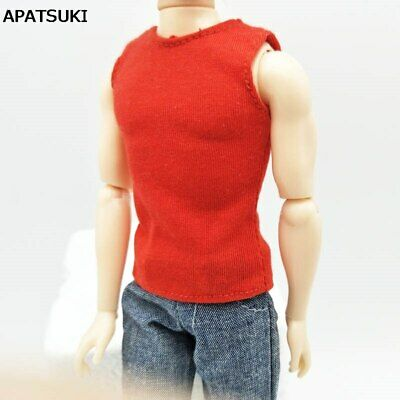 Fashion 1:6 Doll Clothes Red Vest For Ken Doll Top For Ken Boy Doll 1/6 Kids Toy