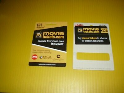 $50 Movietickets.com gift card