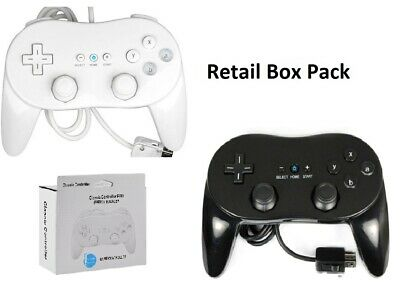 Boxed White Black Classic Controller Pro For Nintendo Wii Console + Warranty Uk
