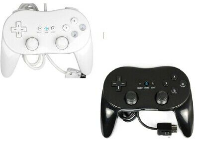 White Black Classic Controller Pro For Nintendo Wii Console + Warranty Uk