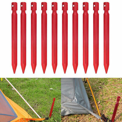 10Pcs 18cm Aluminum Alloy Outdoor Camping Trip Tent Peg Ground Nail Stakes O4A2