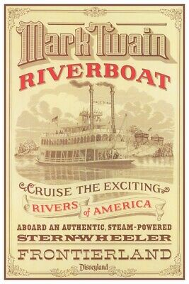 Disneyland Mark Twain Riverboat - Collector Poster 4 Sizes  (B2G1 Free!!)