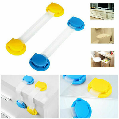 10 pcs Adhesive Child Kids Baby Cute Safety Lock Door Drawers Cupboard Cabinet