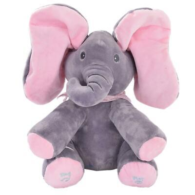 Kaia Elephant Animated Plush Singing Elephant with Peek-a-boo Interactive Feat