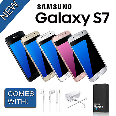 UK Samsung Galaxy S7 SM-G930F 32GB GSM Unlocked Smartphone 5Colours -New Sealed!