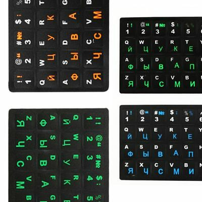 Russian Laptop Keyboards Sticker Waterproof PVC Stickers Computers Letter Layout