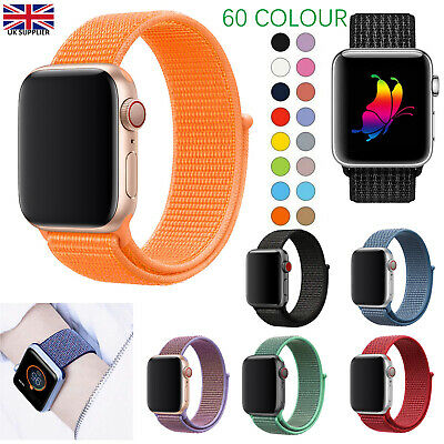 Replacement Woven Nylon Strap for Apple Watch Series 1 2 3 4 38/40mm  42/44mm UK