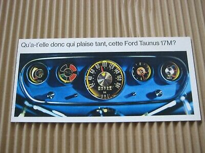 FORD TAUNUS 17M Brochure Prospect Catalogue Dépliant French