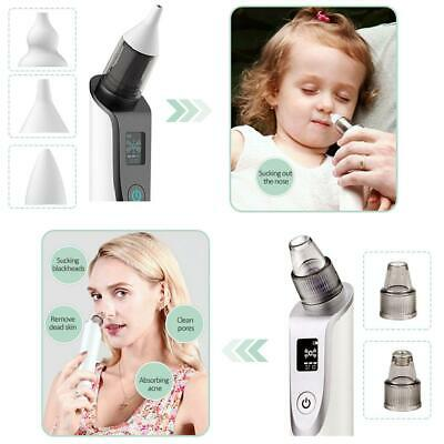 Newborn Baby Nasal Aspirator Electric Nose Cleaner Safe Hygienic Snot Sucker