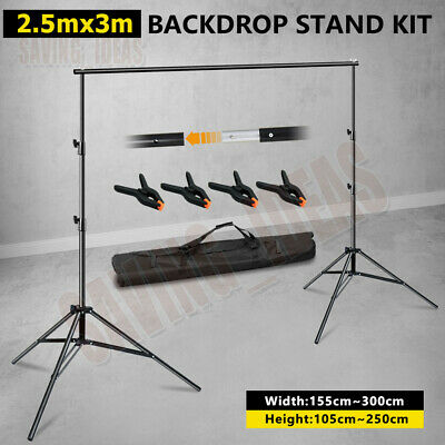 2.8x3m Photography Studio Heavy Duty Backdrop Background Support Light Stand Kit