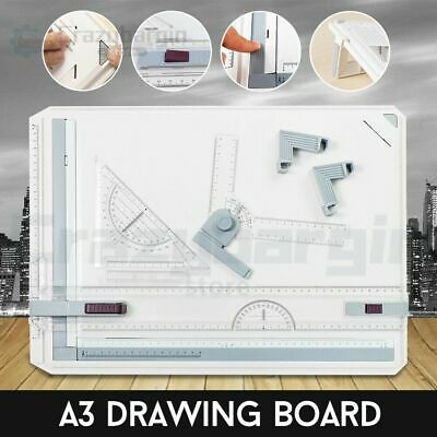 A3 Drawing Board Table Tool Portable Drafting Kit Parallel Motion Adjustable bw