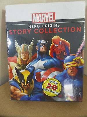 Marvel Hero Origins 4 Books Story Collection- Spider-Man,Captain America,Thor,X-
