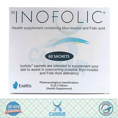 60 x Inofolic Sachets PCOS Treatment Ovulation Conceive Inositol Folic Acid