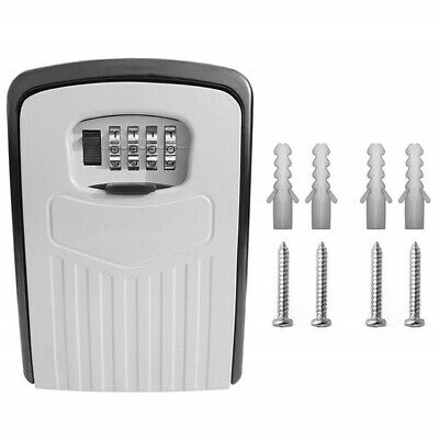 Large Key Lock Box Wall Mounted Safe Storage Case 4-Digit Combination Household
