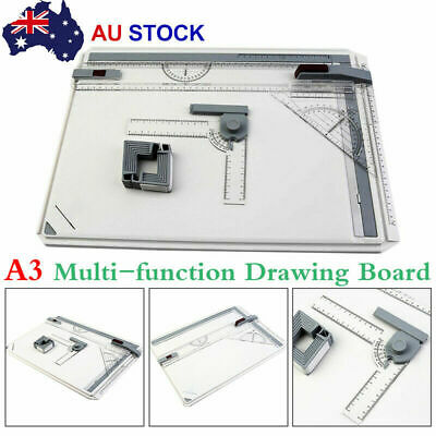A3 Drawing Board Table Tool With Parallel Motion & Adjustable Angle Drafting JU