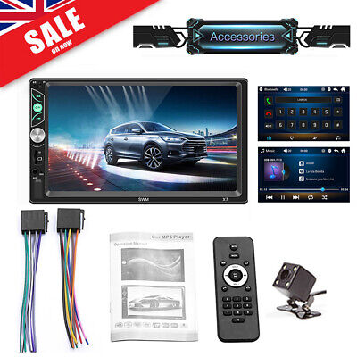 """7"""" Double Din Car MP5 Player Touch Screen Stereo Radio Bluetooth HOT"""