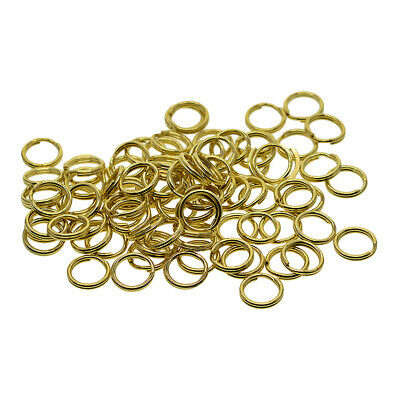 50 Pcs Split Brass Rings DIY Jump Rings Round Double Ring Tackle Connectors