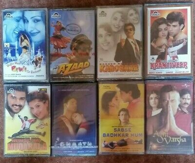 8 Retro Bollywood Hindi Indian Music Cassettes Not Cd. Brand New & Sealed.